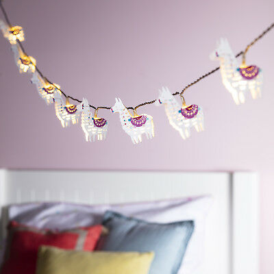 Battery Llama Children's Fairy Lights 10 Warm White LEDs with Timer Lights4fun