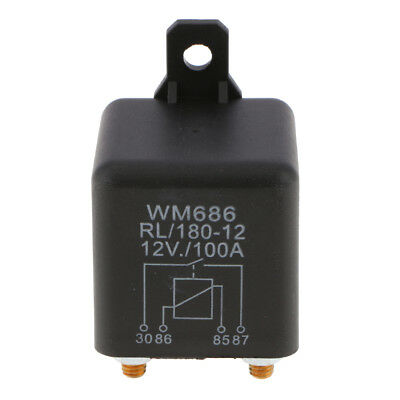 100Amp Split Charge Relay Switch - 4 Terminal Relays for Truck Boat Marine