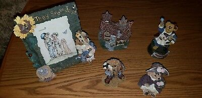 boyds bears resin figurines lot of five