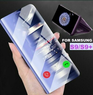 New Samsung Galaxy S7 8 9 Note 9 Smart View Mirror Leather Flip Stand Case Cover