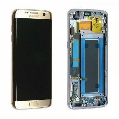 """Écran Complet Vitre Tactile+Lcd """"service pack"""" Or Samsung Galaxy S7 Edge G935F O"""