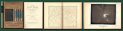 Lovely 1901 Dr. Klein's STAR ATLAS-Astronomy/18 Plates/Star Maps/SPCK/Free Ship
