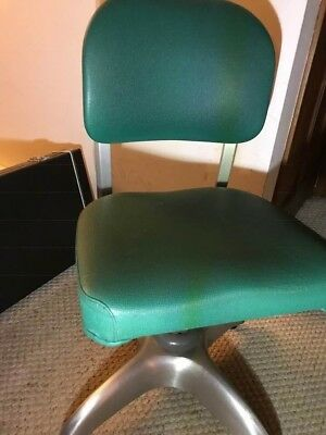 Vintage GOOD FORM Industrial Chair Mid Century Brushed Aluminum,