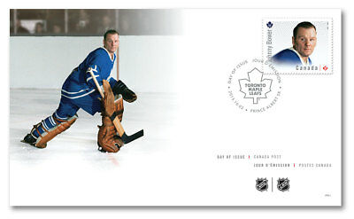 2015 - NHL Goalies: Official First Day Cover - Johnny Bower