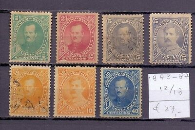 ! Costa Rica 1883-1887. (1Used) Stamp.  YT#12/18. €37.00 !