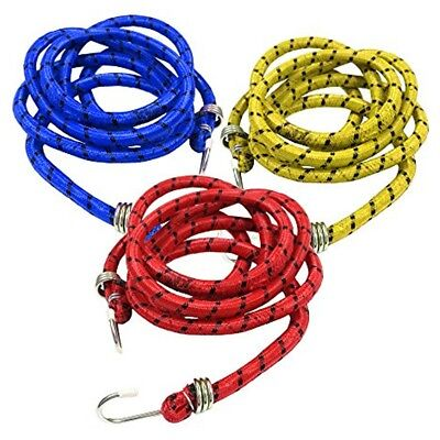 1.8m LONG BUNGEE CORD Strong Stretch Elastic Rope Hook Luggage Strap Tie Down