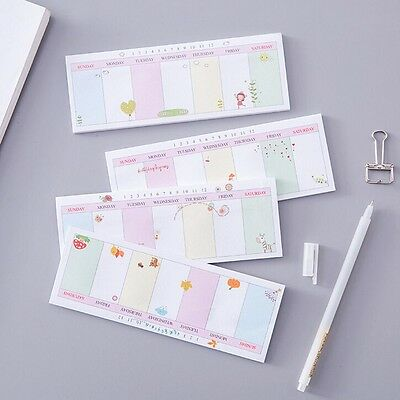 Weekly/Daily Planner Sticker Sticky Notes Memo Pad Schedule Check List SK