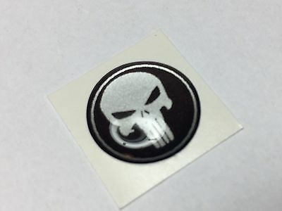 4 Stück PUNISHER 3D DOMING GEL STICKER für Türgriffe 15 mm AUTO EMBLEM TUNING