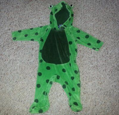 FADED GLORY Green Froggy Infant Halloween Costume 3-6 months