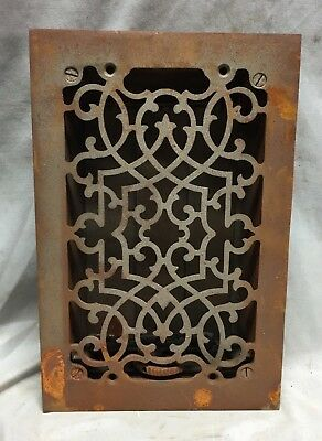 One Antique Cast Iron Decorative Heat Grate Floor Register 6X10 Vintage 33-19C