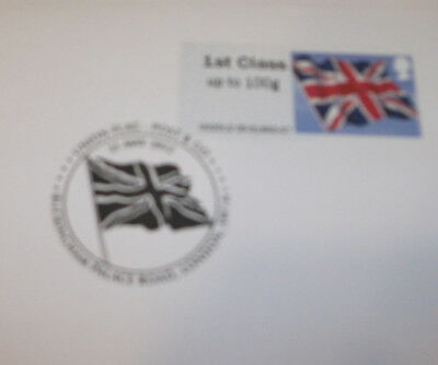 GB 2012 Post & Go Union Jack Flag 1st Class Stamp FDC with Special Post Mark