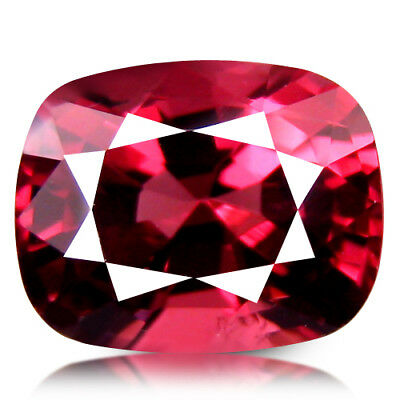 1.41CT PERFECT CUSHION CUT SHINNING SPARK UNHEATED ORANGE PINK SPINEL from BURMA