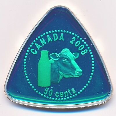 Canada Sterling Silver Proof 50 Cents 2008 Milk Delivery