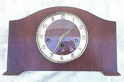 Vintage Bentima Floating Balance 8-Day Mantel Clock with Westminster Chimes