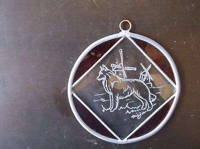 Belgian Sheepdog-  Beautifully  Hand Engraved  Ornament by Ingrid Jonsson.