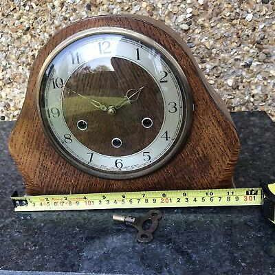 Old Westminster Chiming Mantle Clock With Key. Needs Attention.