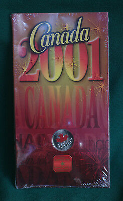 2001P CANADA 25 cent Canada Day Coloured Commemorative Quarter orginal pkg