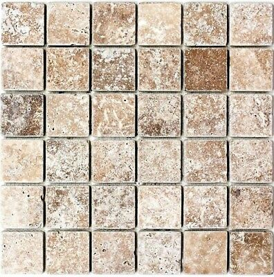 Mosaic Tile Marble Natural Stone Black Nero Antique floor 43-44048_f | 10 sheet