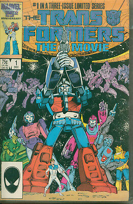 Marvel Comics Transformers The Movie Issues 1 2 3 issue limited