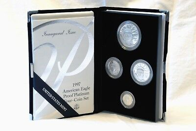 VERY RARE - 1997 -W  American Eagle Proof Platinum Four Coin Set INAUGURAL ISSUE