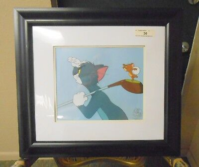"""Framed Tom & Jerry Tee for Two Golf Limited Edition Animation Sericel 22""""x20"""""""