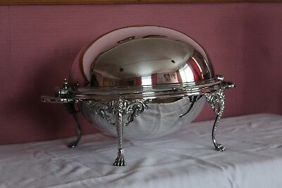 Large Antique Victorian Silver Plated Breakfast Warming Dish