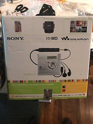 SONY MZ-Nh700 MiniDisc Recorder Bundle Accessories Original BOX HiMD, MD, New.