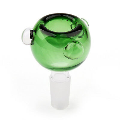 Colorful 14mm Male Round Glass Slide Bowl Downstem Hookah Accessories Green USA