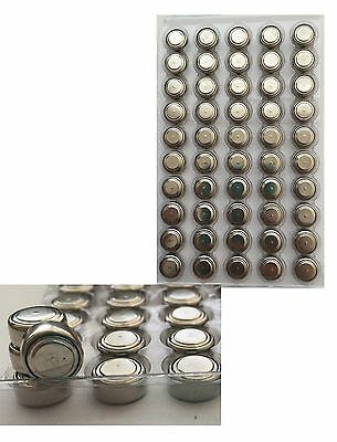 50 X AG4 G4 Ultra SR626SW LR626 LR66 377 377A Bulk 1.5V Alkaline Button Battery