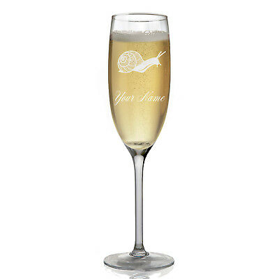 Personalized Champagne Glass - Snail
