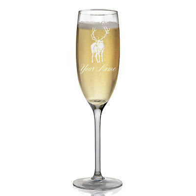 Personalized Champagne Glass - Elk