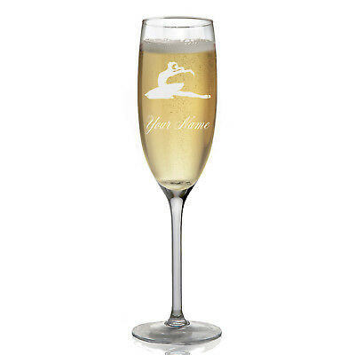 Personalized Champagne Glass - Dancer
