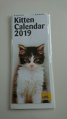 Cats Protection 2019 Kitten Calendar Was £4, Now £1.00!! Benefits Charity