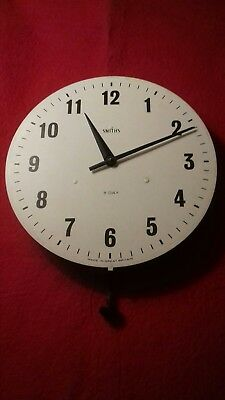 VINTAGE SMITH 8 DAY TRAIN/ SCHOOL CLOCK FACE circa 1940s BAKALITE WORKING