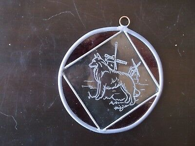 Belgian Sheepdog- New Item- Hand engraved Ornament  by Ingrid Jonsson.