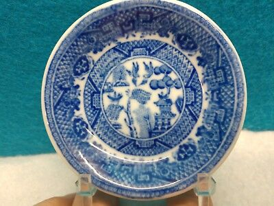 Vintage Blue Willow Plates Butter Pat~Dipping~Teabag~3'' across