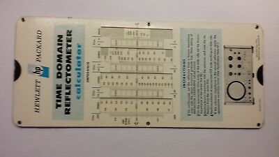 Hewlett Packard Time Domain Reflectometer calculator/slide rule