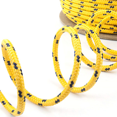 100m yellow polypropylene rope poly cord 4mm