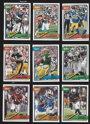 2018 PANINI CLASSICS FOOTBALL  (ROOKIE RC's, STARS, LEGENDS) WHO DO YOU NEED!!