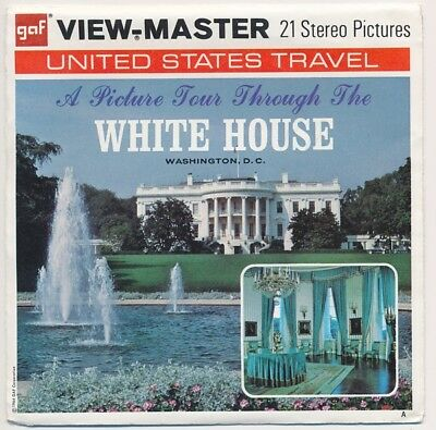 View Master packet A793 A Picture Tour Through The WHITE HOUSE w/booklet G2 A