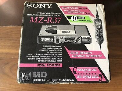 SONY MZ-M37 Portable MiniDisc Recorder With all Accessories & Original BOX, New