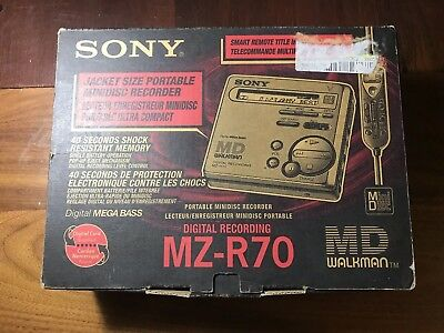SONY MZ-R70 MiniDisc Recorder all Accessories Original BOX MD, New