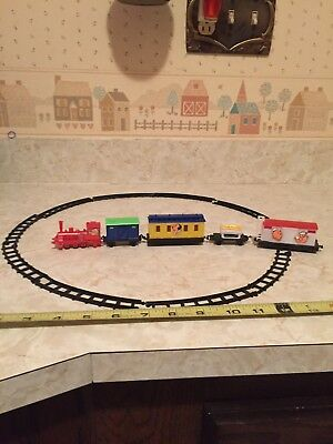Vintage Popeye Olive Swee'pea Rail Road Train and Track Made in Hong Kong