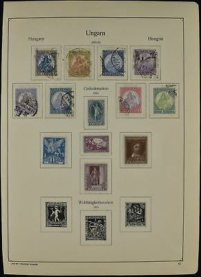 Hungary 1921-1923 Album Page Of Stamps #V7706