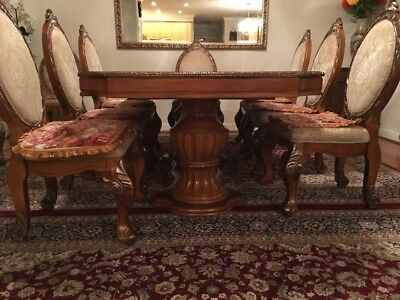Antique Mahogany Dining Table 8-12 Person