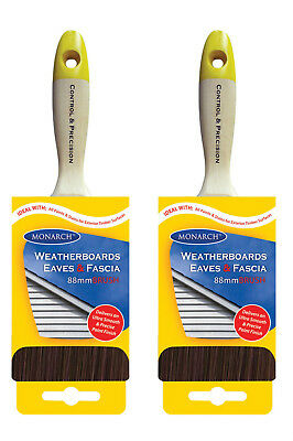 "Monarch Weatherboards Eaves & Fascia 3.5"" 88mm Brand New Paint Brush 395177 x2"