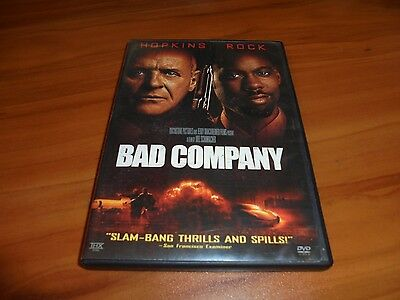 Bad Company (DVD, Widescreen 2002) Anthony Hopkins, Chris Rock Used