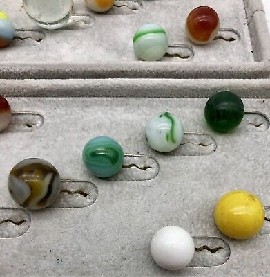 24 Antique Vintage Marbles Akro Peltier Shooter Clay & More *old General Store*