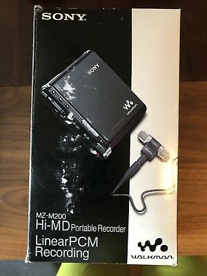SONY MZ-M200 Portable MiniDisc Recorder all Accessories Original BOX HiMD, MD