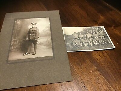 Old Australian military group photo with names WWI & Adelaide soldier